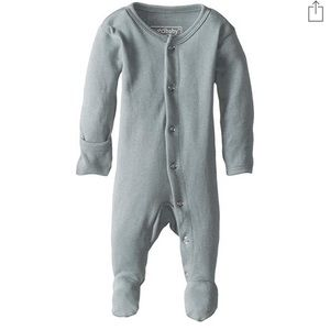 L'ovedbaby Organic Footed Pajama in Seafoam